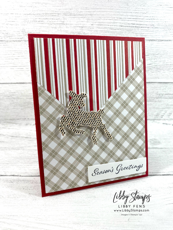 libbystamps, Stampin' Up, Time of Giving, Peaceful Prints DSP, Deer Builder Punch, Be Dazzling Specialty Paper, TSOT, Try Stampin' on Tuesday, SAB, Fall Sale-a-bration 2021, Sale-A-Bration, Sale-a-bration 2021