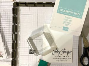 libbystamps, Stampin' Up, Shaded Summer, Beautifully Penned DSP, Stamparatus, Block C, Stamping With Friends Blog Hop, Fall Sale-a-bration 2021, SAB, Sale-a-bration 2021