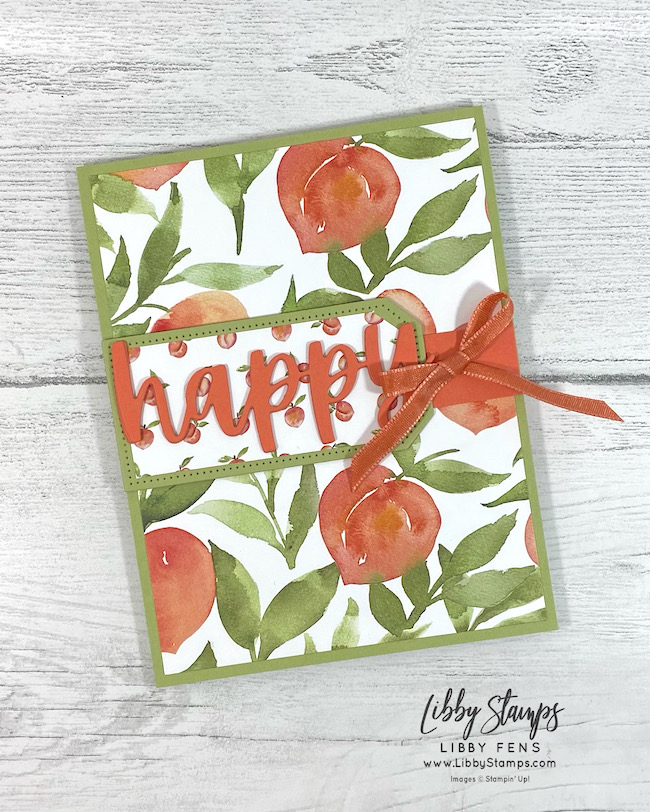 libbystamps, Stampin' Up, Christmas Cheer Dies, Tailor Made Tags Dies, You're A Peach DSP, AHSC, Atlantic Hearts Sketch Challenge